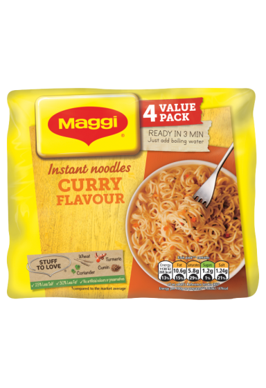 Maggi® 3 Minute Curry Instant Noodles 4 x 59g