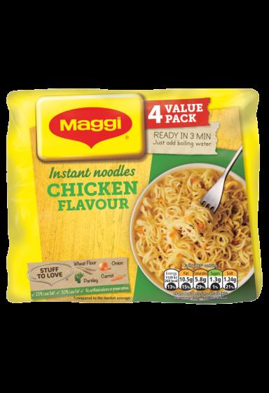 Maggi® 3 Minute Chicken Flavoured Noodles 4 x 59g