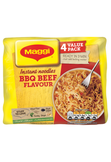 Maggi® 3 Minute BBQ Beef Instant Noodles 4 x 59g